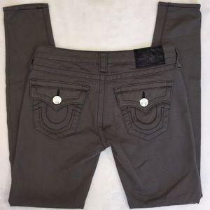 True Religion ponte leggings grey sz 26 length 28